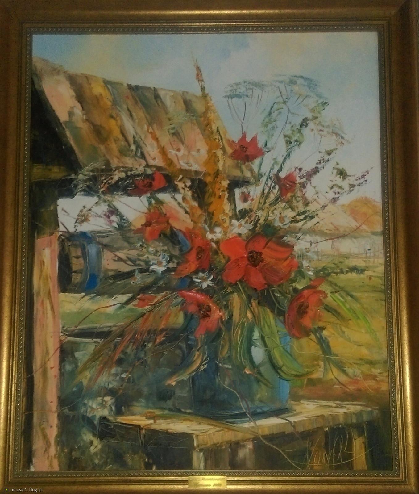Moj prywatny obraz dla Ciebie Grażynko, zamiast wiosny.  Dziękuję za miłe odwiedziny.:)