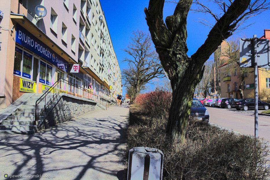 centrum Olecko miasto sąsiednie Godapi