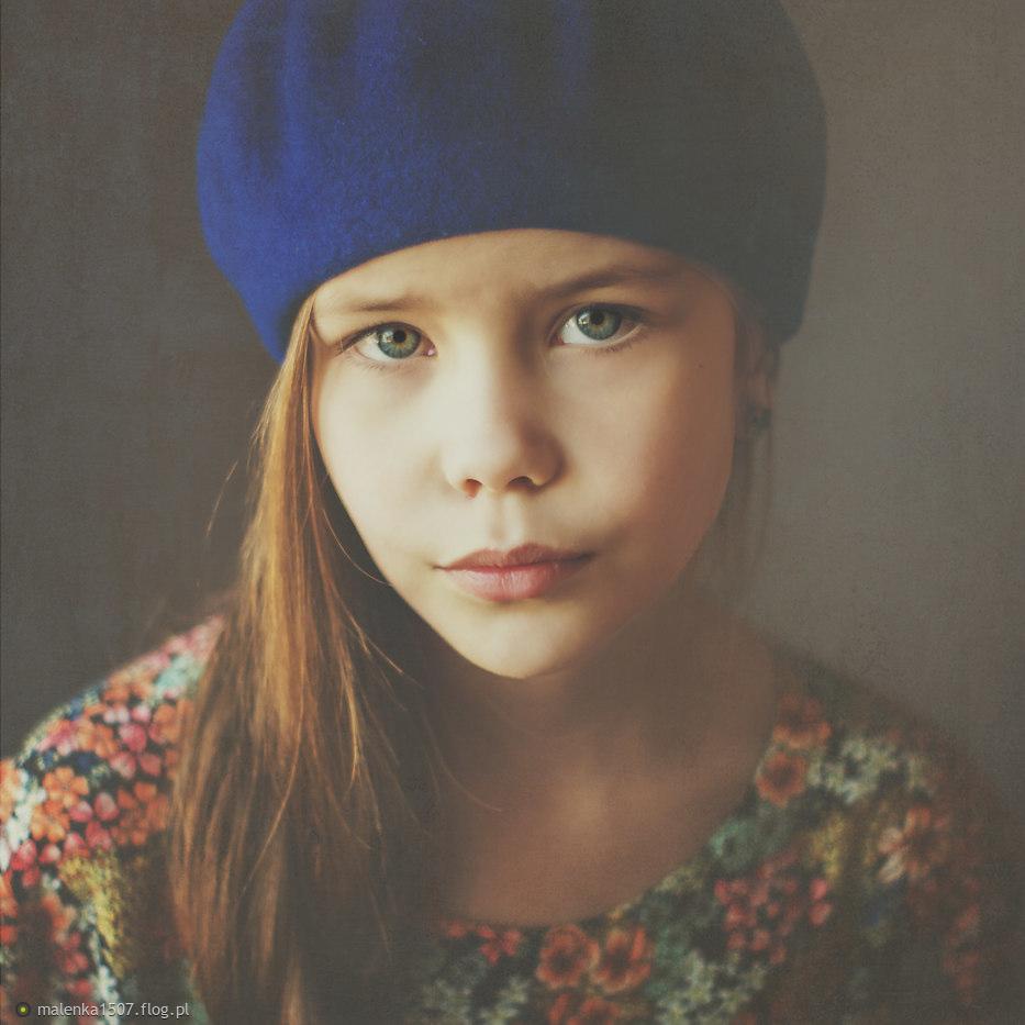 Niebieski beret