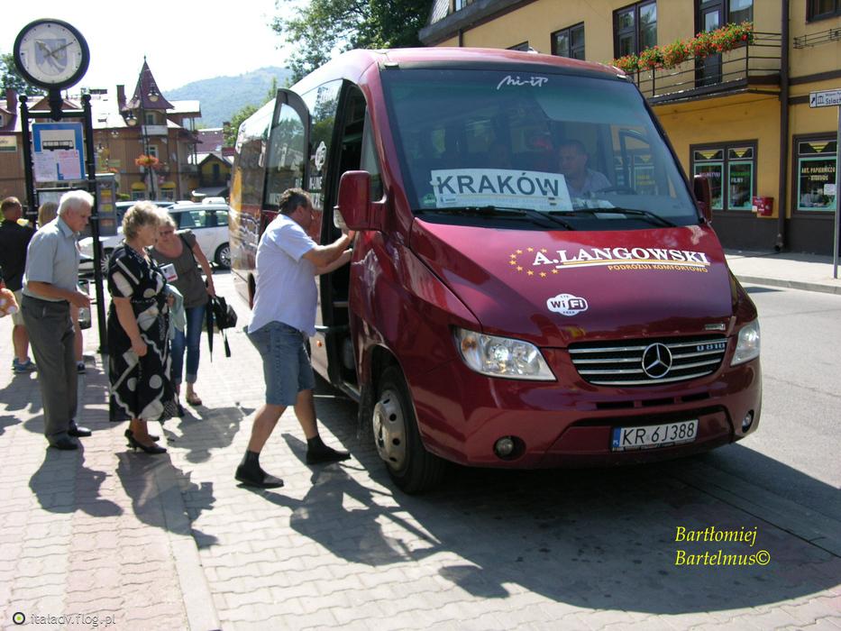 Szczawnica, Autobus firmy A. Langowski do Krakowa, 24.07.2016.