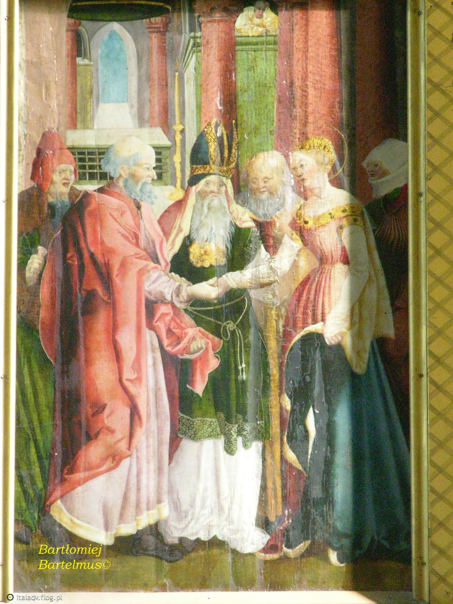 Diviš z Litoměřic (?), Výjevy v postranních křídlech oltáře Korunování Panny Marie, kolem 1520, Kutná Hora, Kostel Panny Marie na Námětí, 31.08.2008.