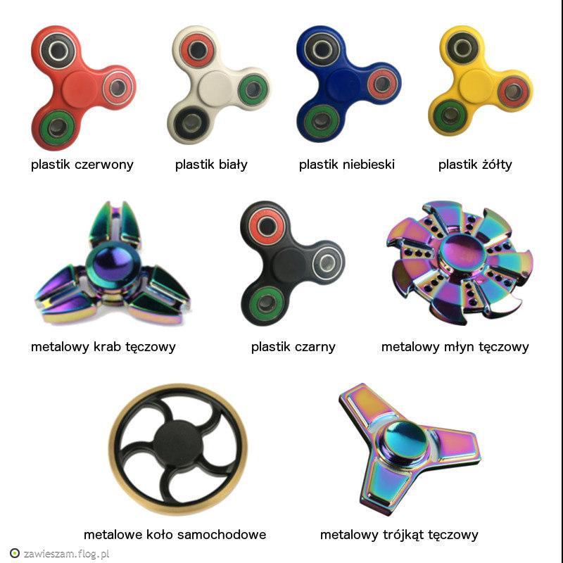 plastikowe lub metalowe spinnery