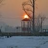Przed zachodem słoneczko <br />szczytowało nad dachem mi<br />asta :)