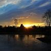 Wczorajszy wschód słońca <br />nad stawem