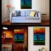&quot;Wszystkie kolory ni<br />eba&quot; :: Obraz pt. &quot;Wszystkie<br /> kolory nieba&quot; Wymia<br />ry 50 x 70 (cm). Malowany<br /> farbami akrylowymi. Wnę