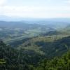 Pieniny, Widoki ze szczyt<br />u Wysoka (1050 m n.p.m.),<br /> 23.07.2016. :: Wysoka jest najwyższym sz<br />czytem Pienin, o wysokośc<br />i około 1050 m n.p.m., le<br />żącym w Małych Pien
