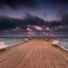 Orłowskie molo o burzowym<br /> świcie