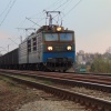 ET42-07-A :: ET42-07-A ze składem węgl<br />arek na haku po opuszczen<br />iu tarnowskiej stacji zmi<br />erza w stronę Rzeszowa