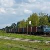 EU07-108 :: Siódemka ze składem konte<br />nerów, w stacji Góra Kalw<br />aria, oczekuje do 16:00 n<br />a otwarcie szlaku Gó