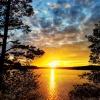 Kolorowy wieczorek nad je<br />ziorem -Biale-Augustowski<br />e-